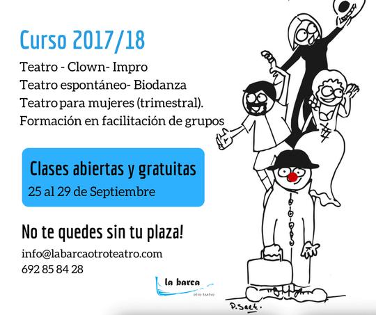 Clases abiertas y gratuitas - La Barca otro Teatro